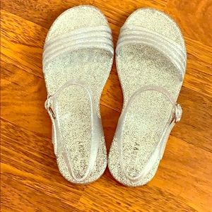 Size three glittery sandals from Old Navy